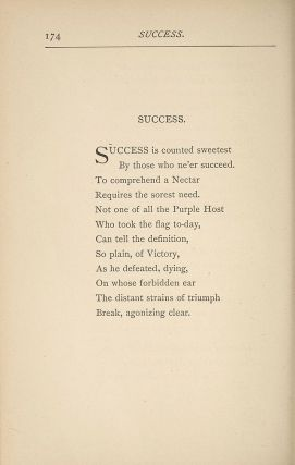 'Success is Counted Sweetest' as first published. 72S-700, Houghton Library, Harvard University
