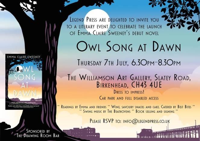 Owl Song at Dawn Birkenhead launch