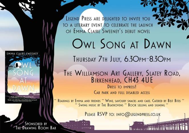 Owl Song at Dawn Birkenhead launch
