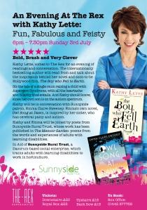 Sunnyside Kathy Lette Flyer (1)
